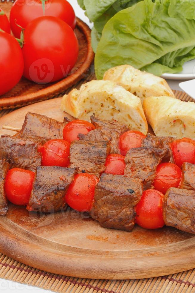 Meat skewers photo