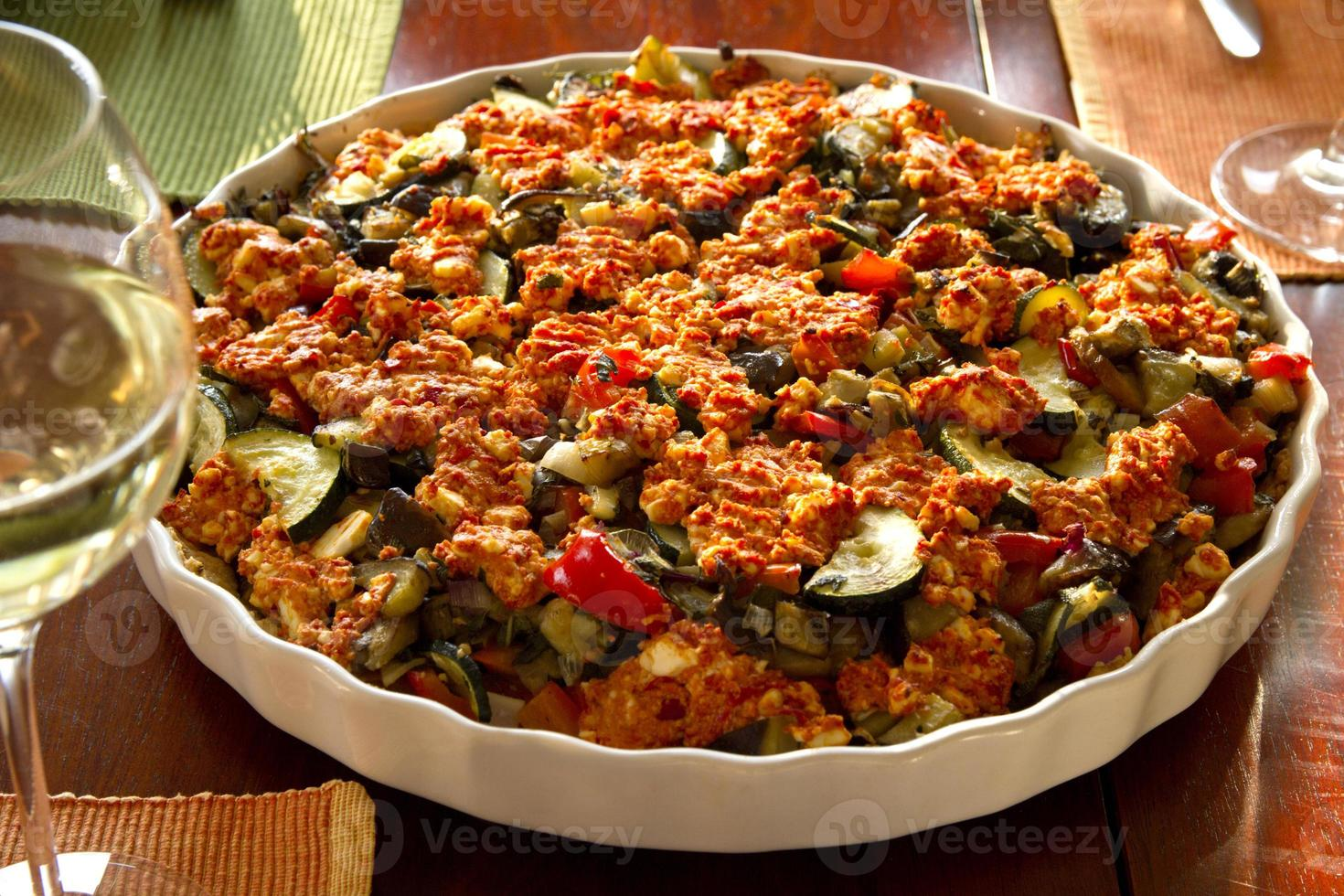Vegetable casserole photo