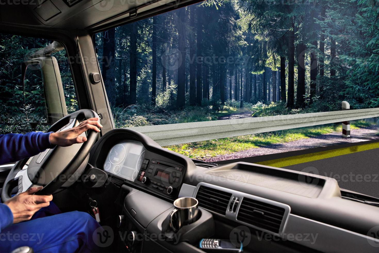 truck cockpit photo