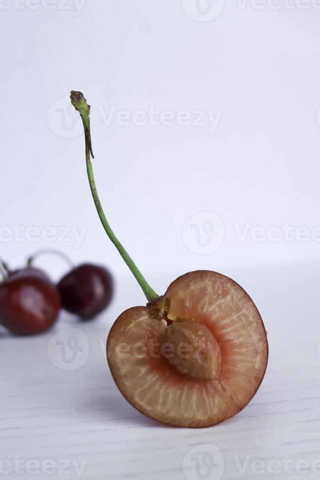 Cherry close up. photo