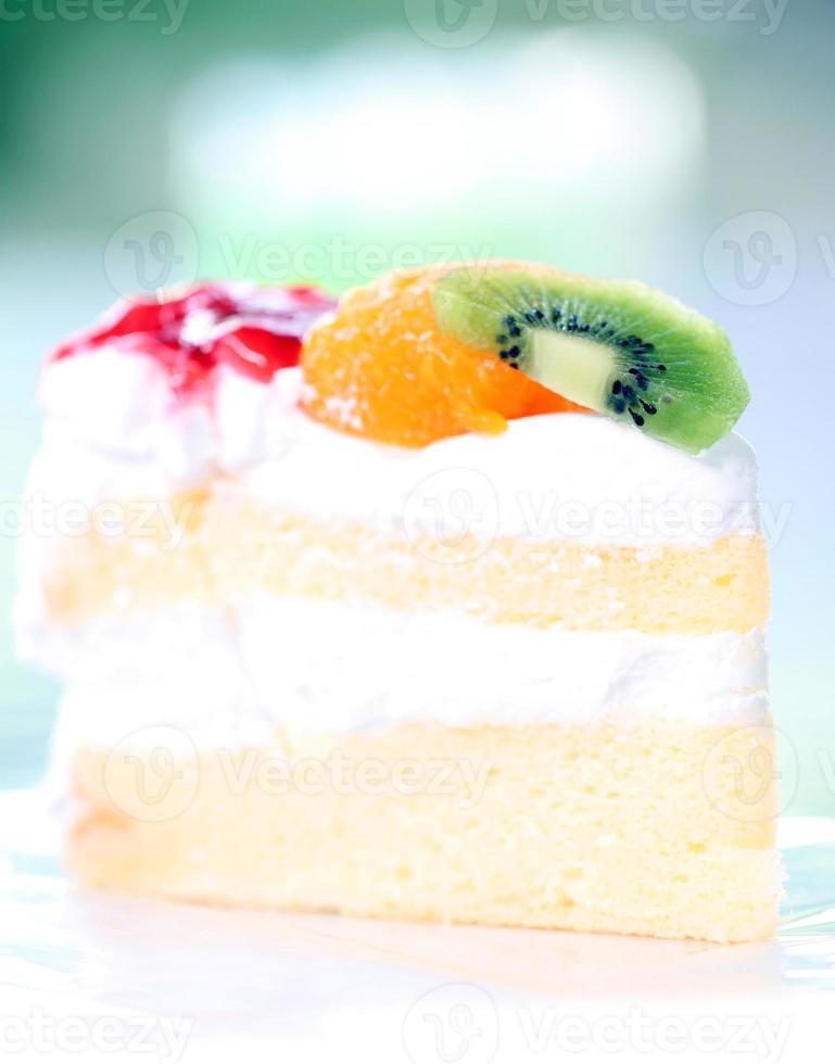 Tarta de fruta de postre saludable. foto