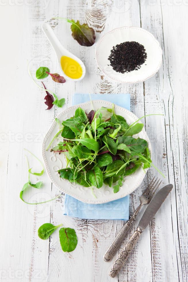 Fresh green salad photo