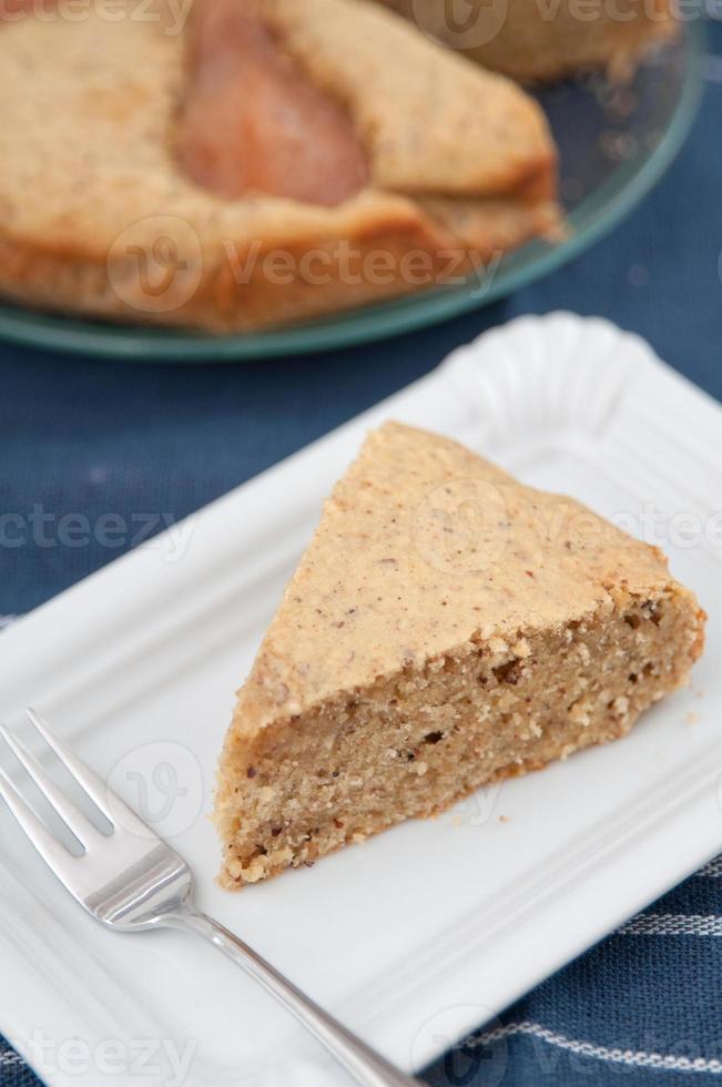 pastel de pera y almendras foto