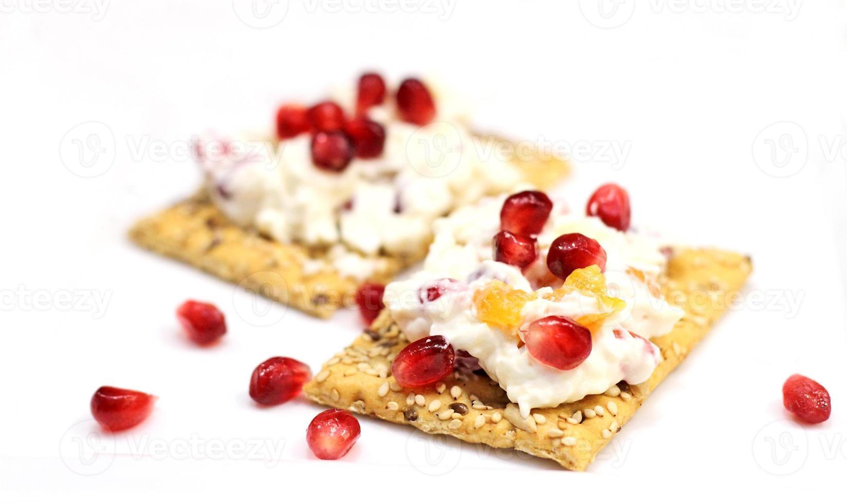 queso y galletas foto