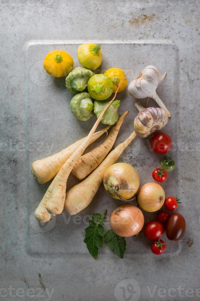Different fresh vegetables photo