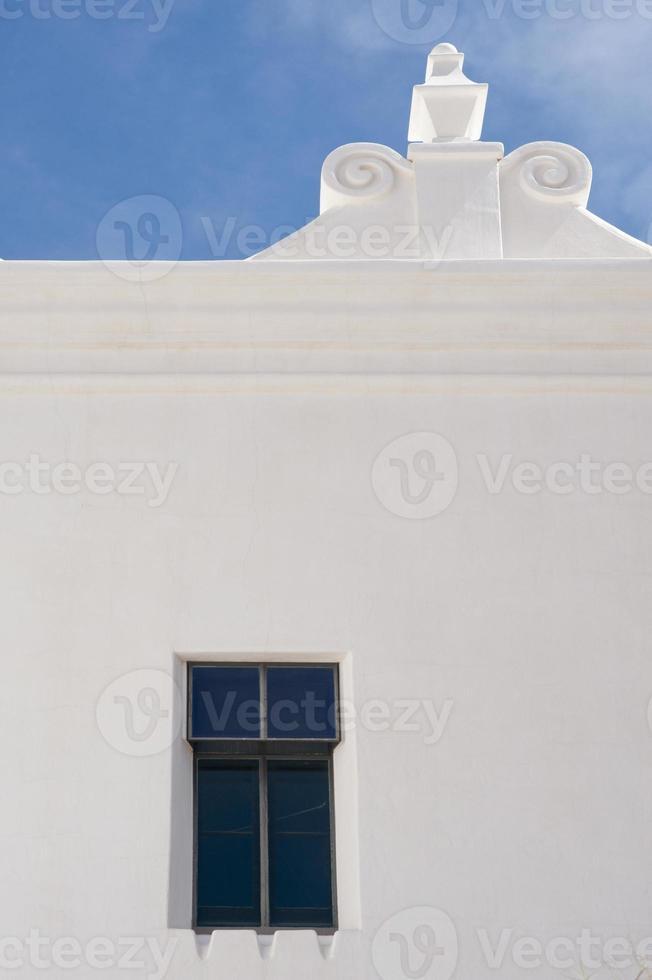 Wall, Window and Scroll Work at San Xavier del Bac photo