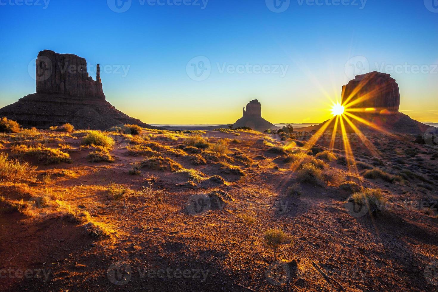 Sunrise at Monument Valley photo