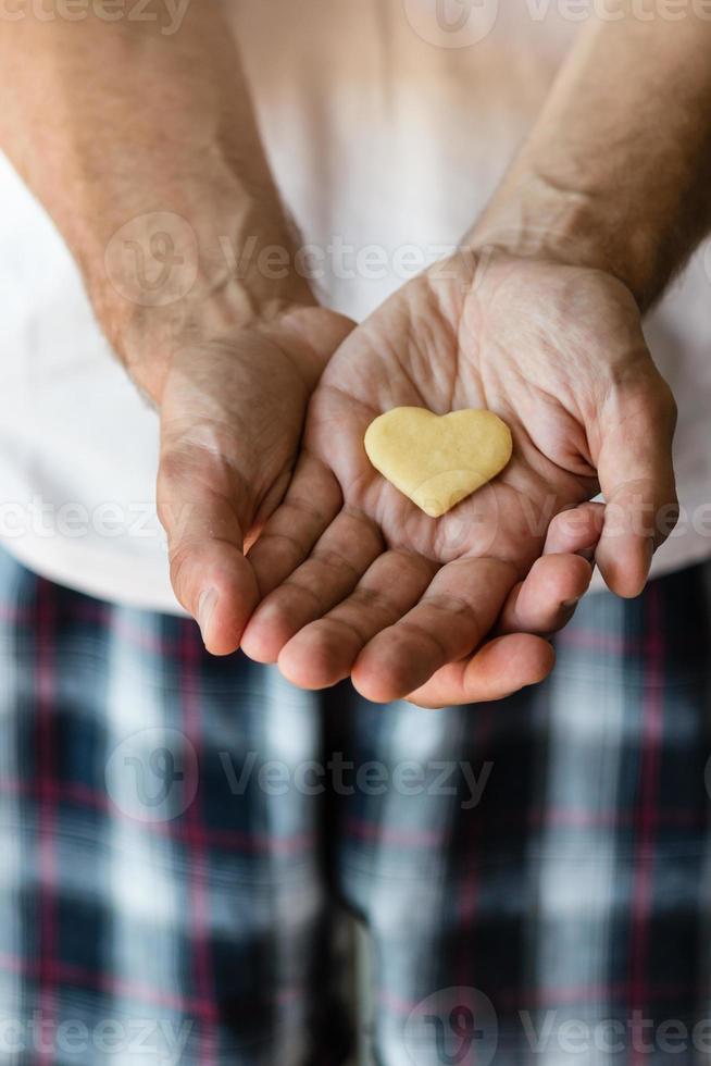 biscuit  heart in hands photo
