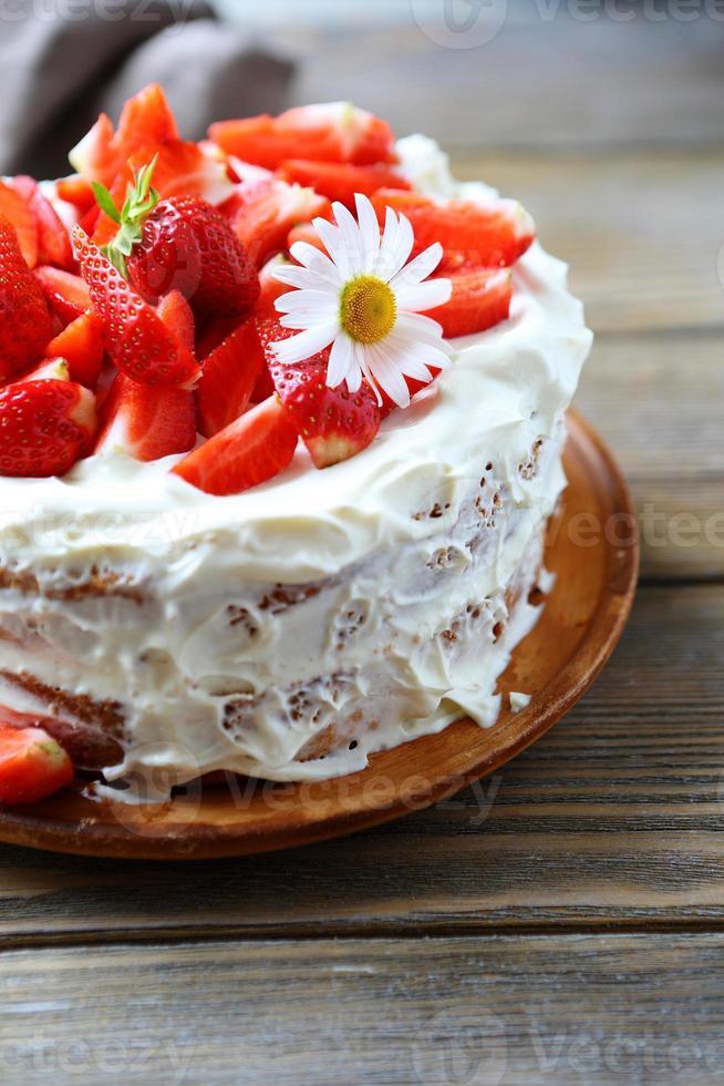 pastel redondo de verano foto