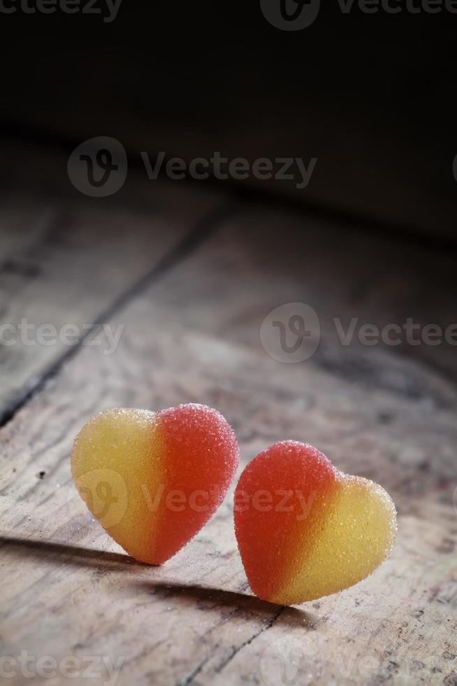 Two sweet heart, valentine's day composition photo