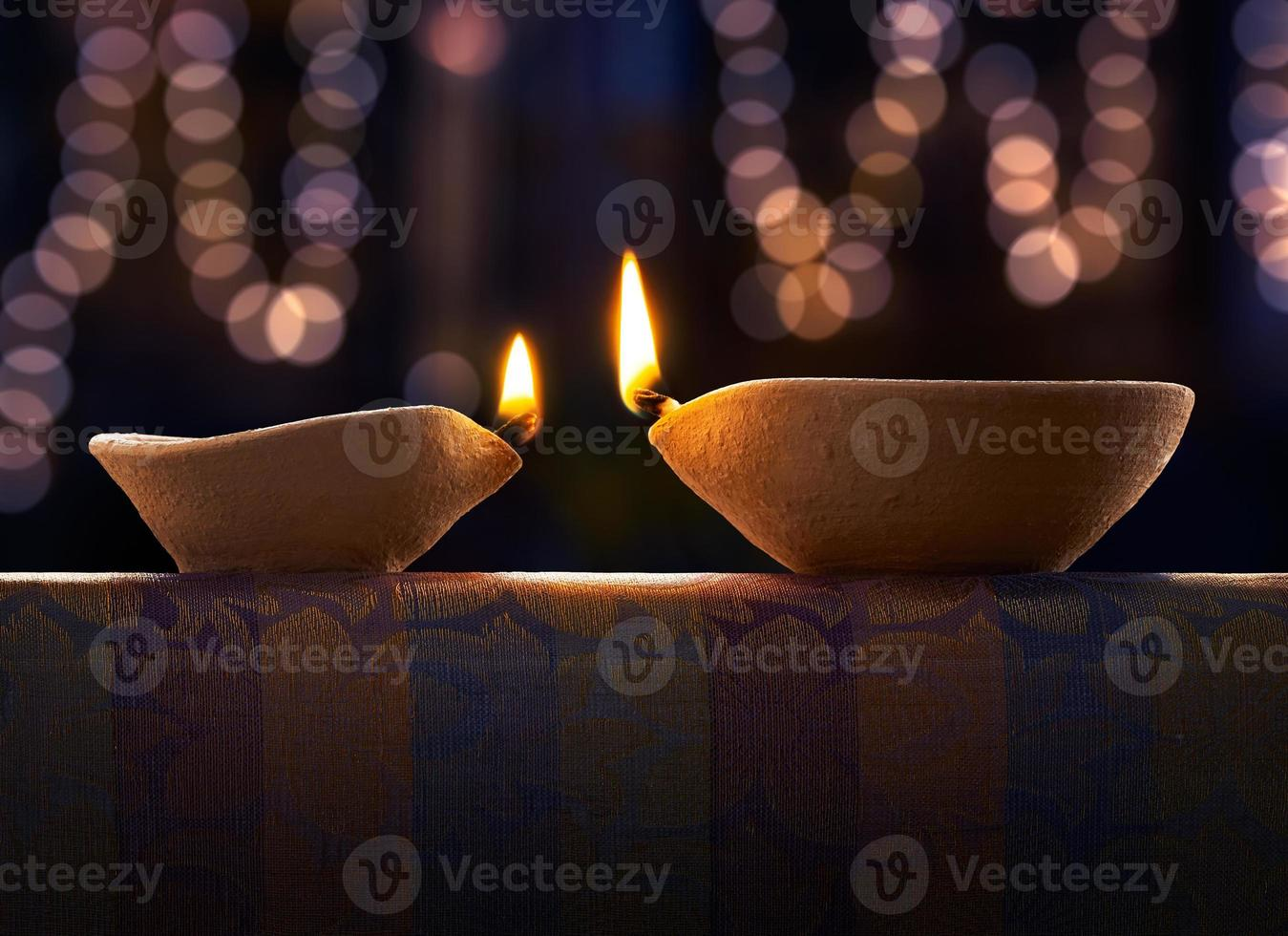 Diwali oil lamp photo