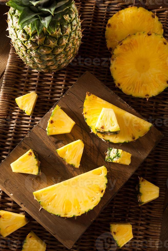 Organic Raw Yellow Pineapple photo