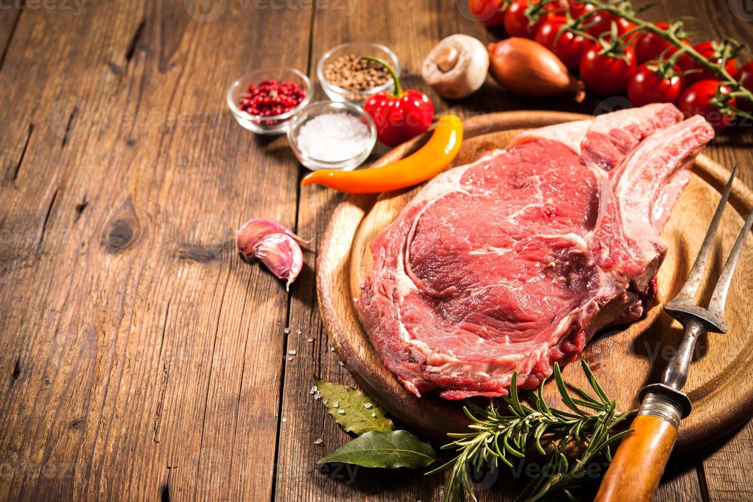 bifteck de faux-filet photo
