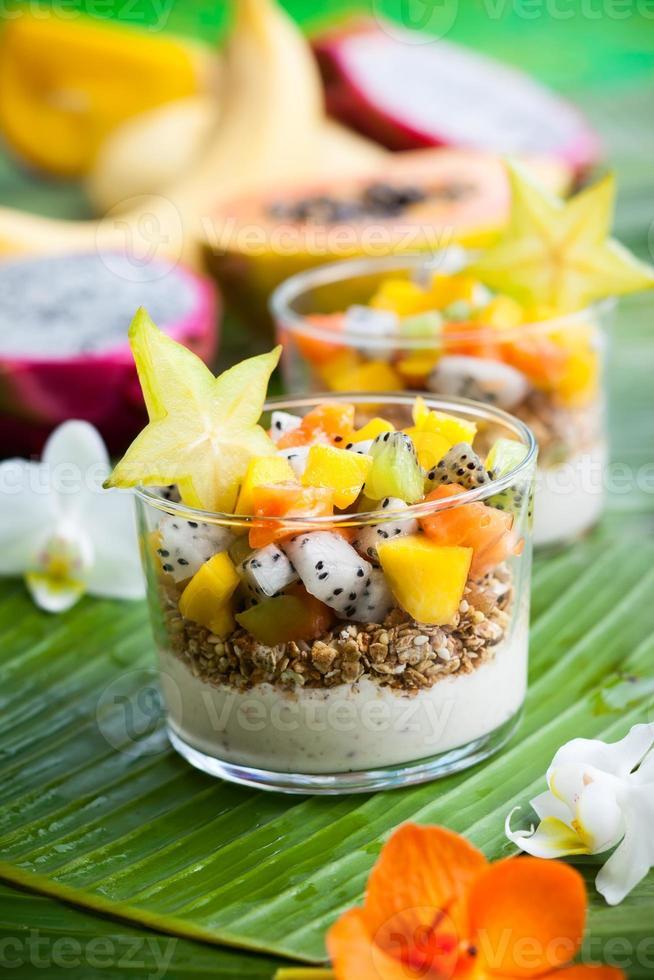 petit déjeuner aux fruits exotiques photo