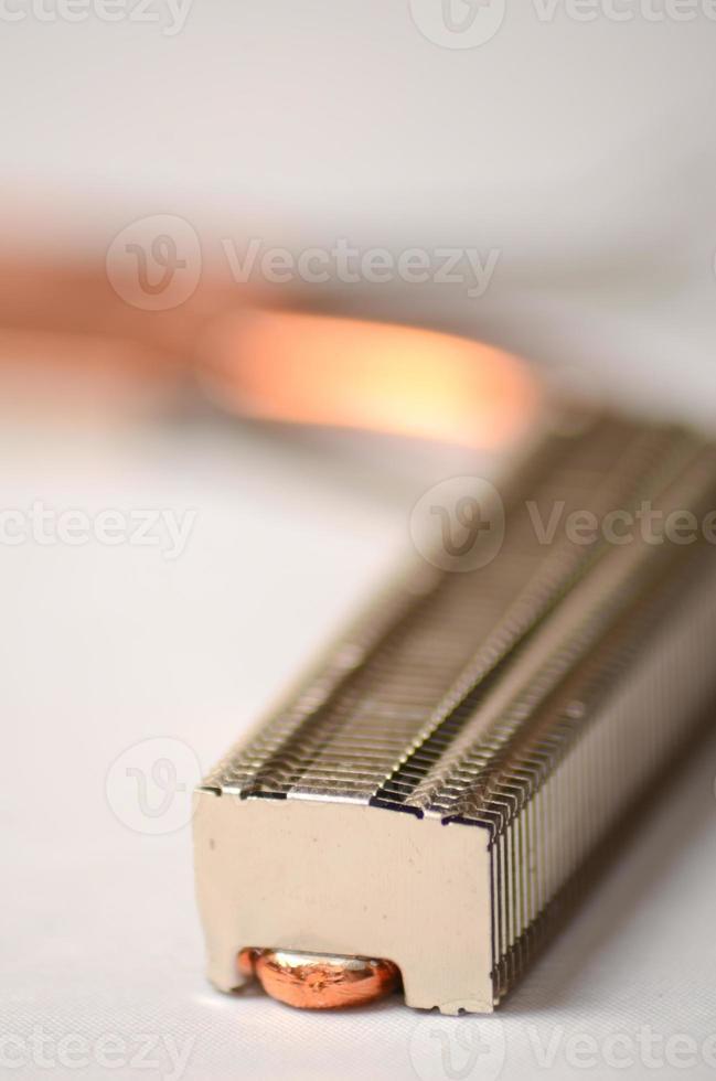 disipador de calor de la CPU del ordenador portátil foto