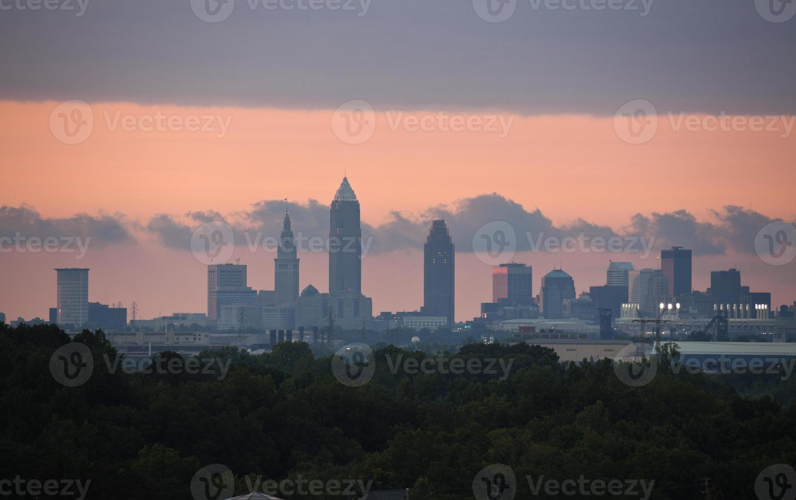 zonsondergang in Cleveland foto