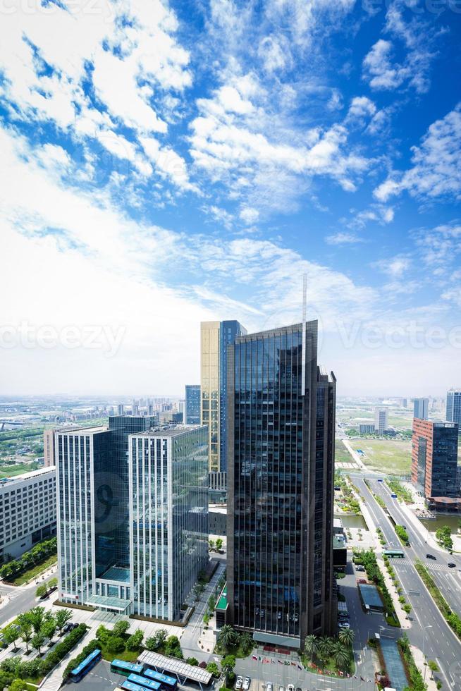 horizonte y edificio moderno foto