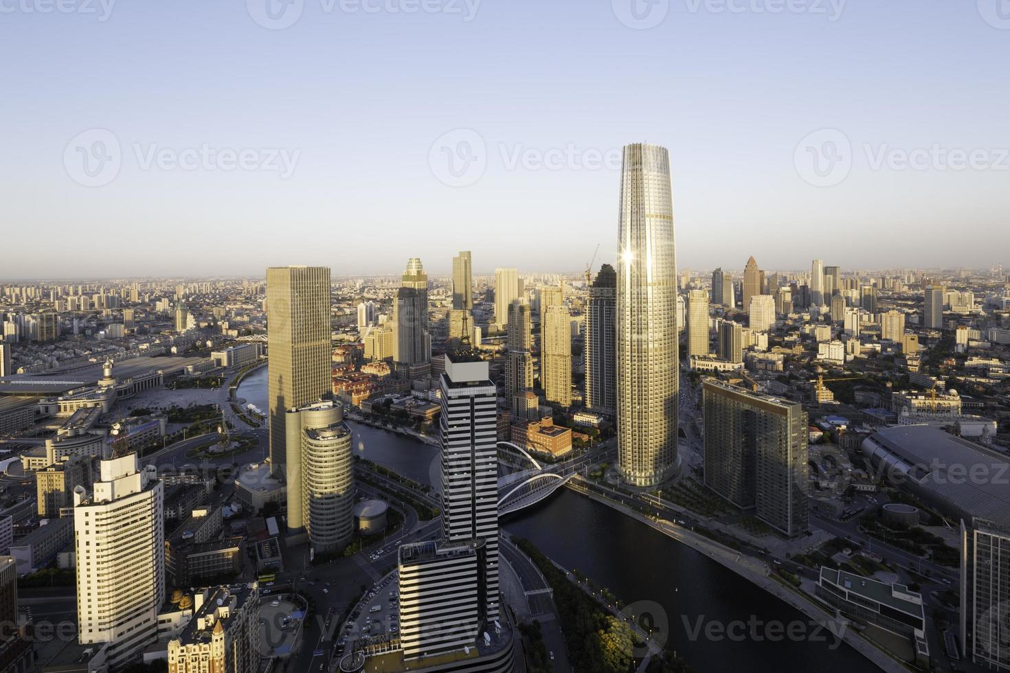 Panoramic skyline and cityscape photo