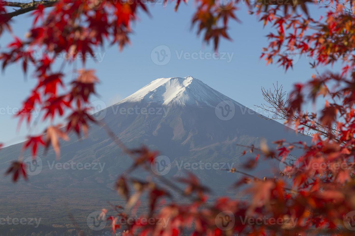Monte Fuji en otoño, Japón foto