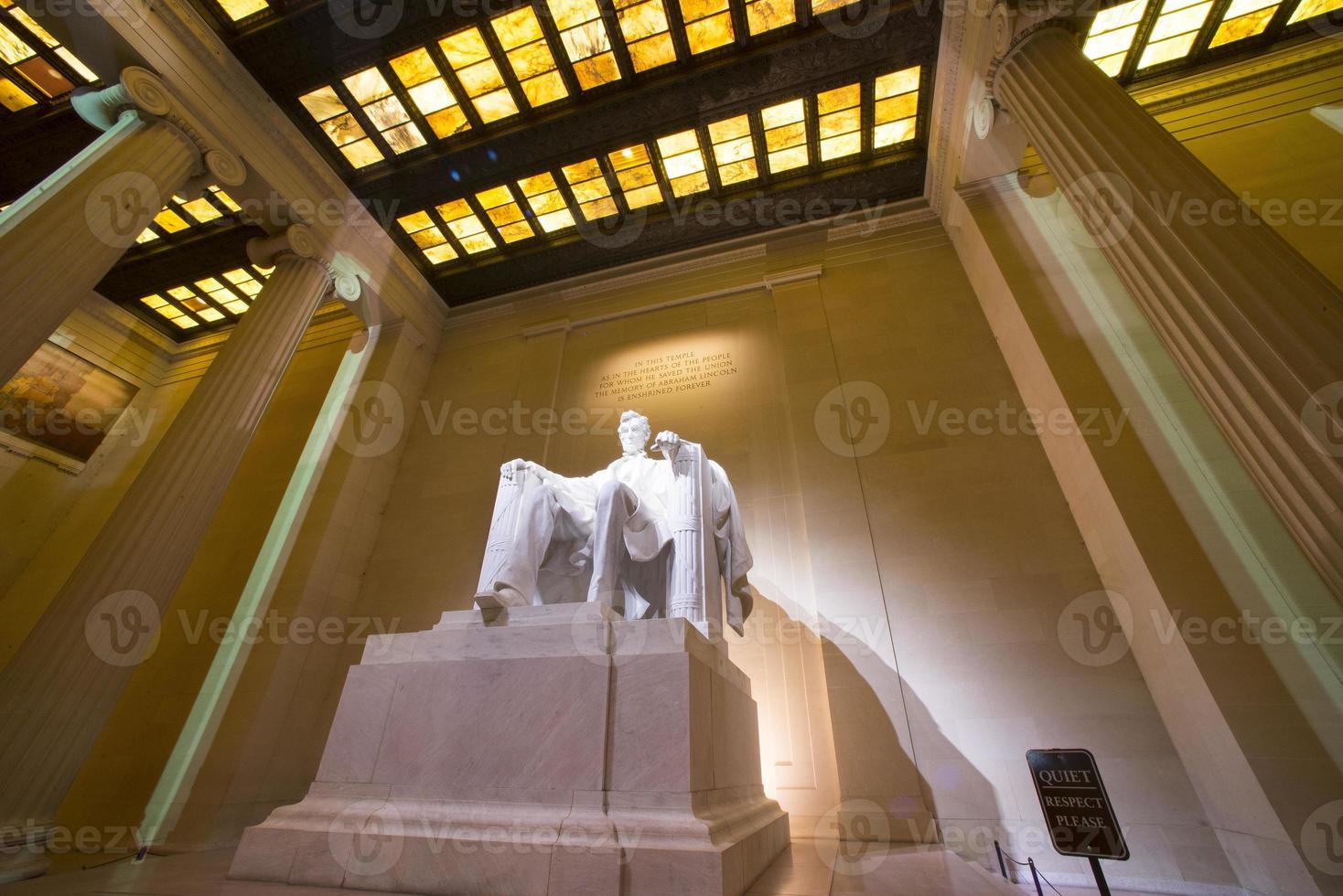Lincoln memorial en la noche foto
