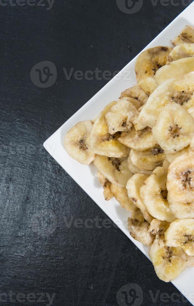 comida saludable (chips de plátano) foto