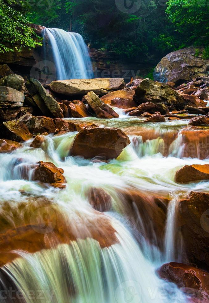 Douglas Falls, en el río Blackwater en Monongahela National F foto