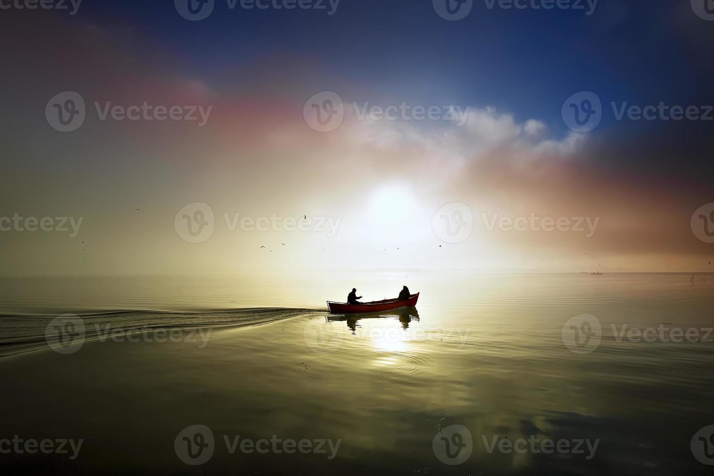 sonset del lago .. foto