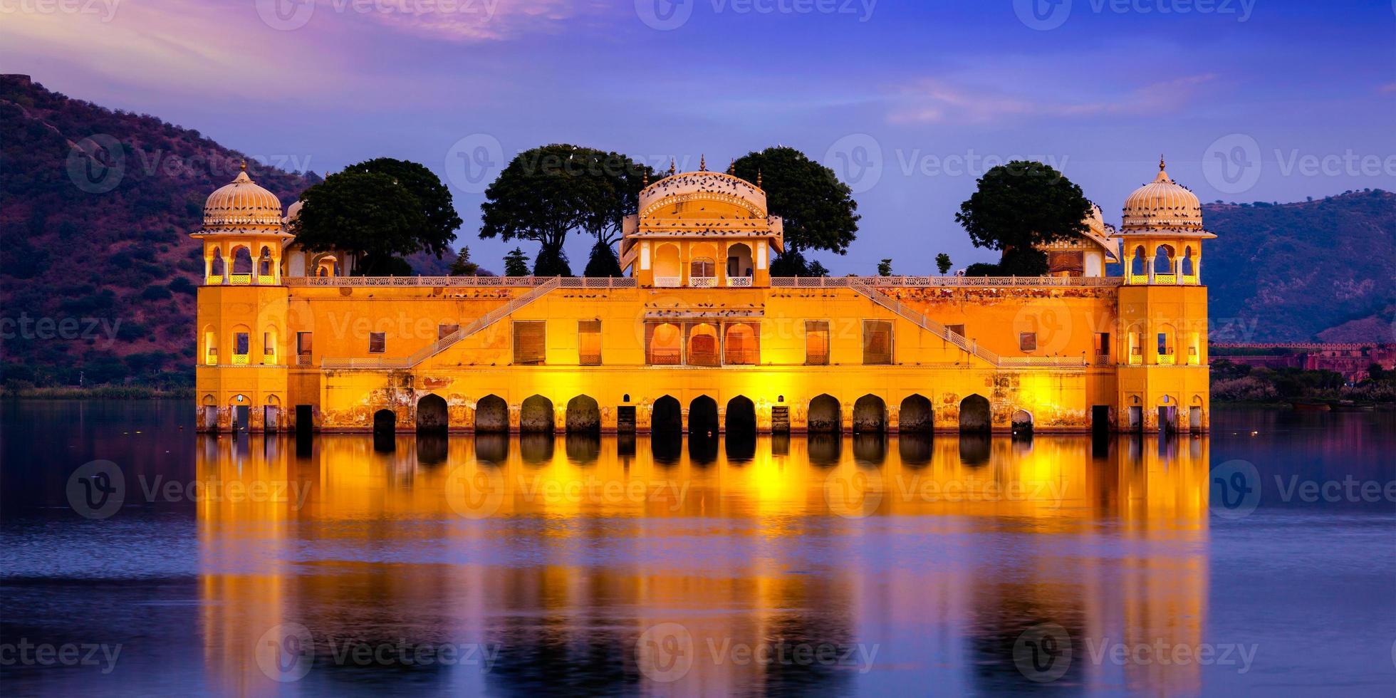 Palacio de agua jal mahal. Jaipur, Rajasthan, India foto
