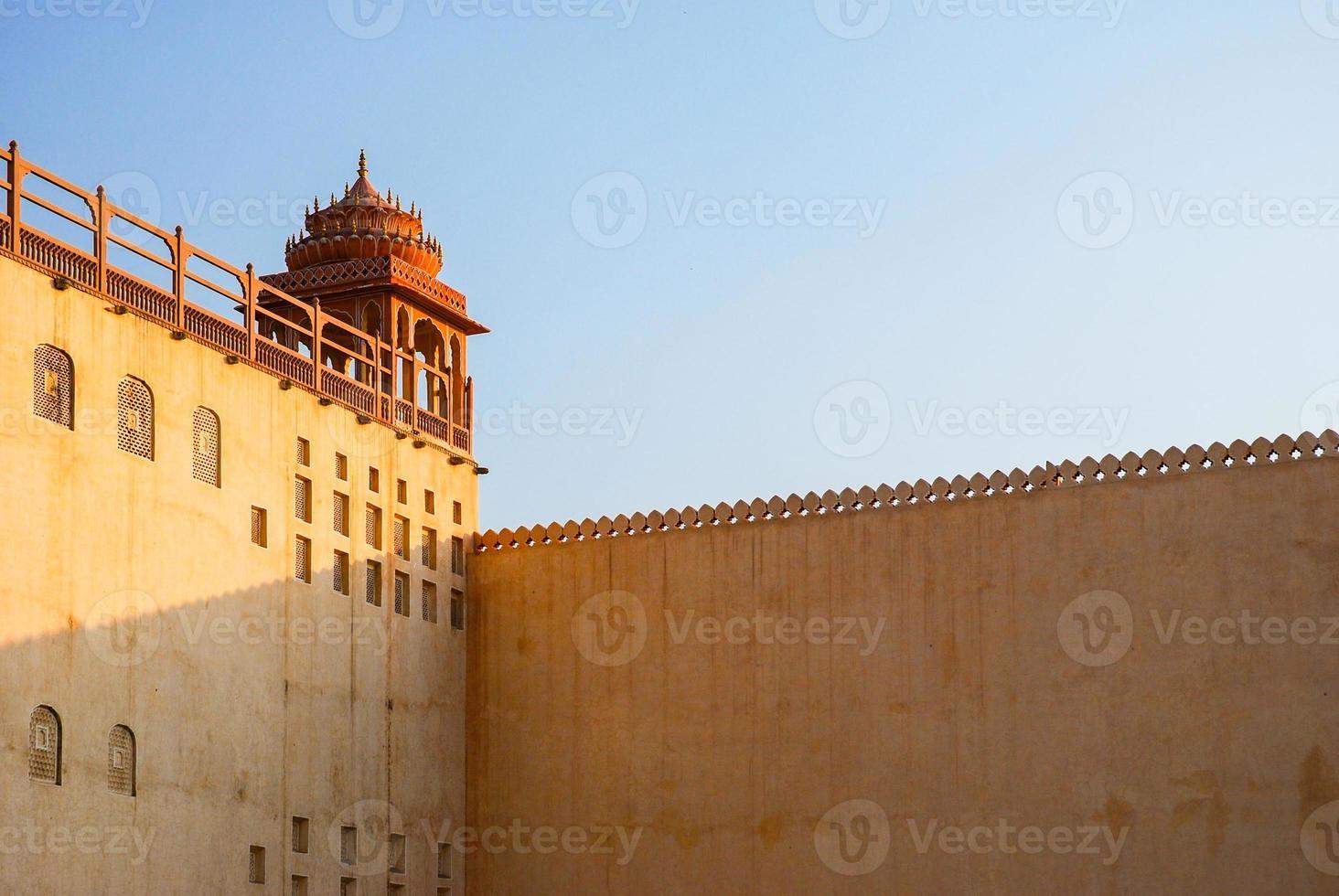 Detalle de Hawa Mahal, el palacio de los vientos, Jaipur foto
