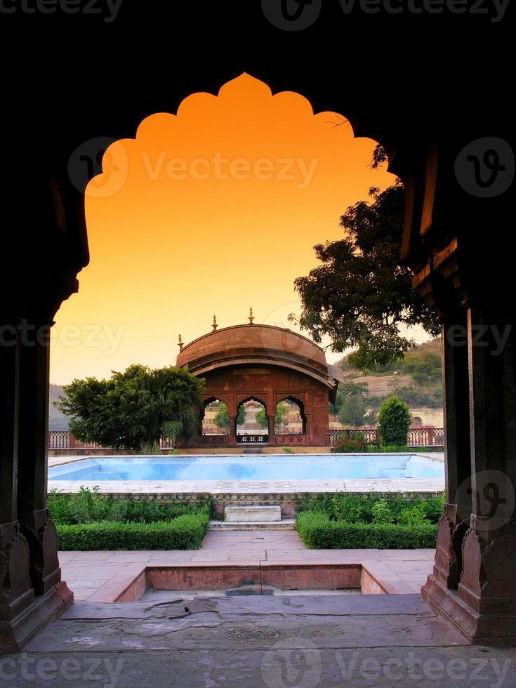 Inside Amer Fort. Jaipur, India. photo