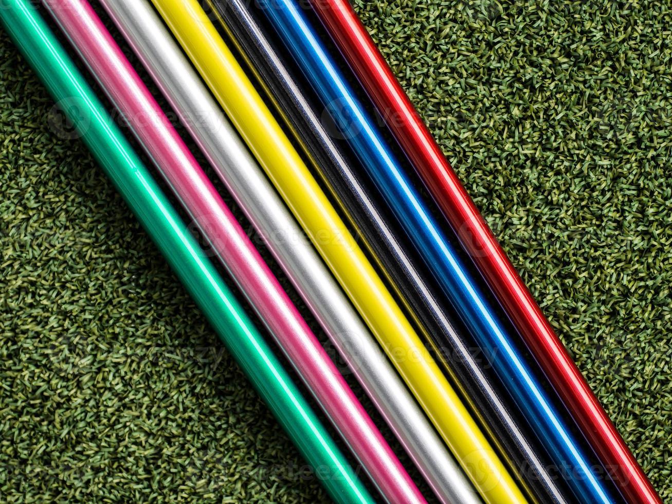 eje de golf colorido foto