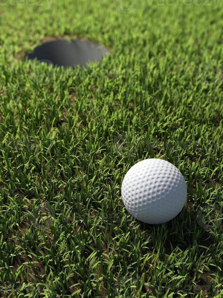 Balle de golf 3D par trou photo