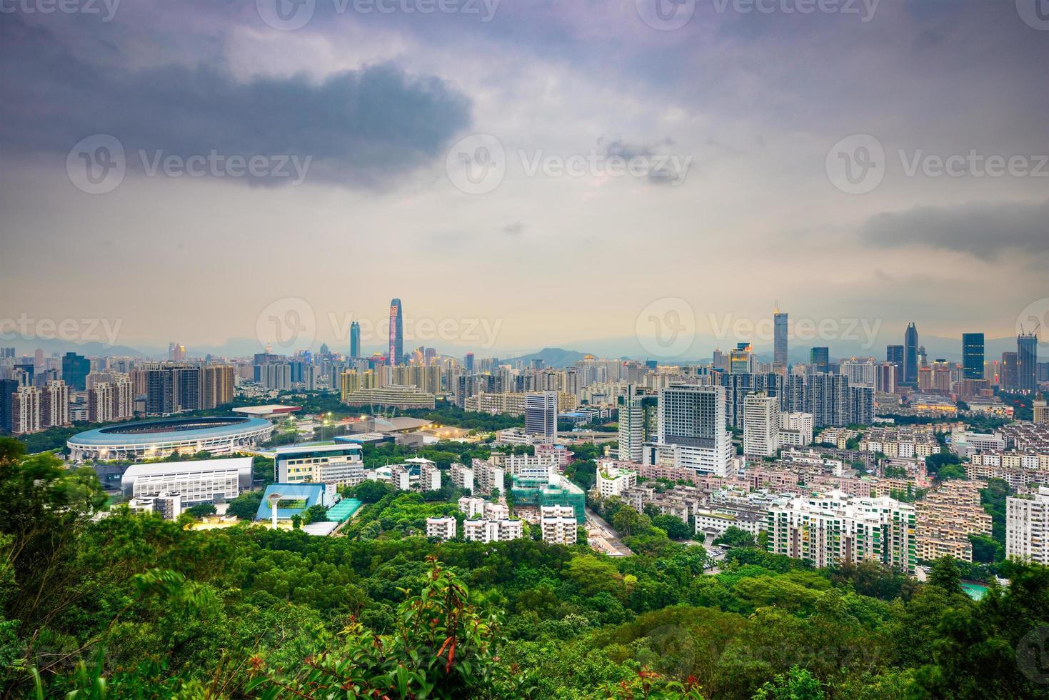 skyline de shenzhen foto