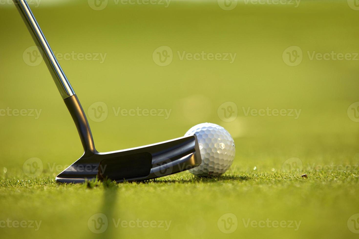 club de golf en un campo de golf foto