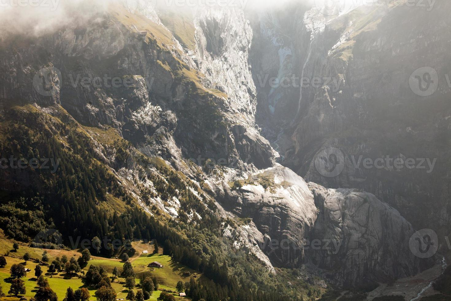 Paisajes de montaña alrededor de Grindelwald, Suiza foto