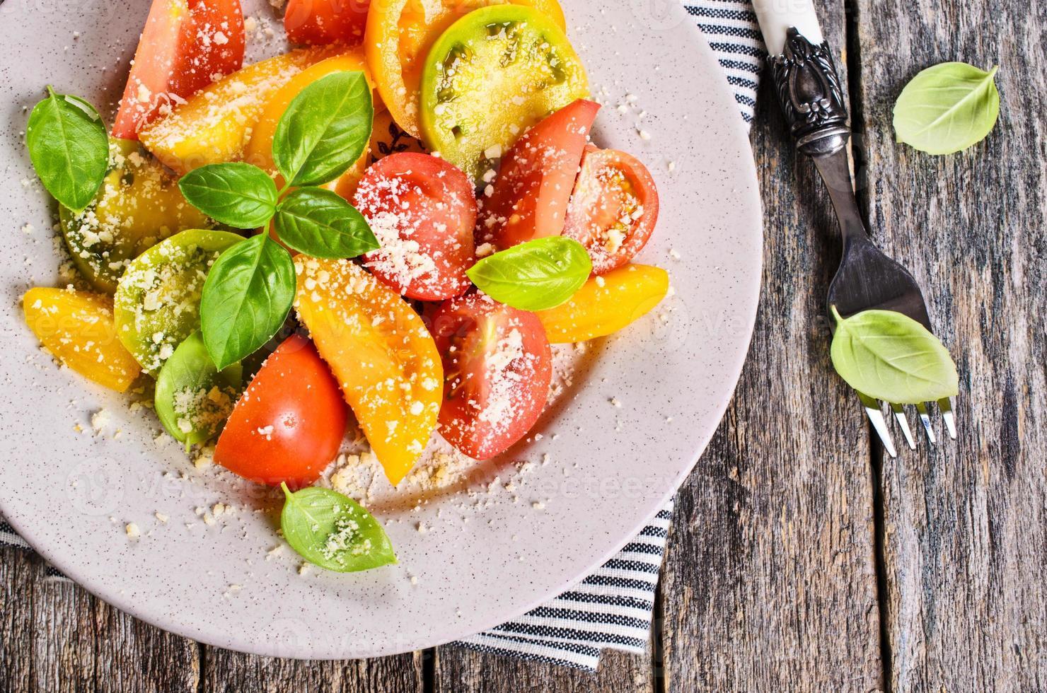 Salad of tomato photo