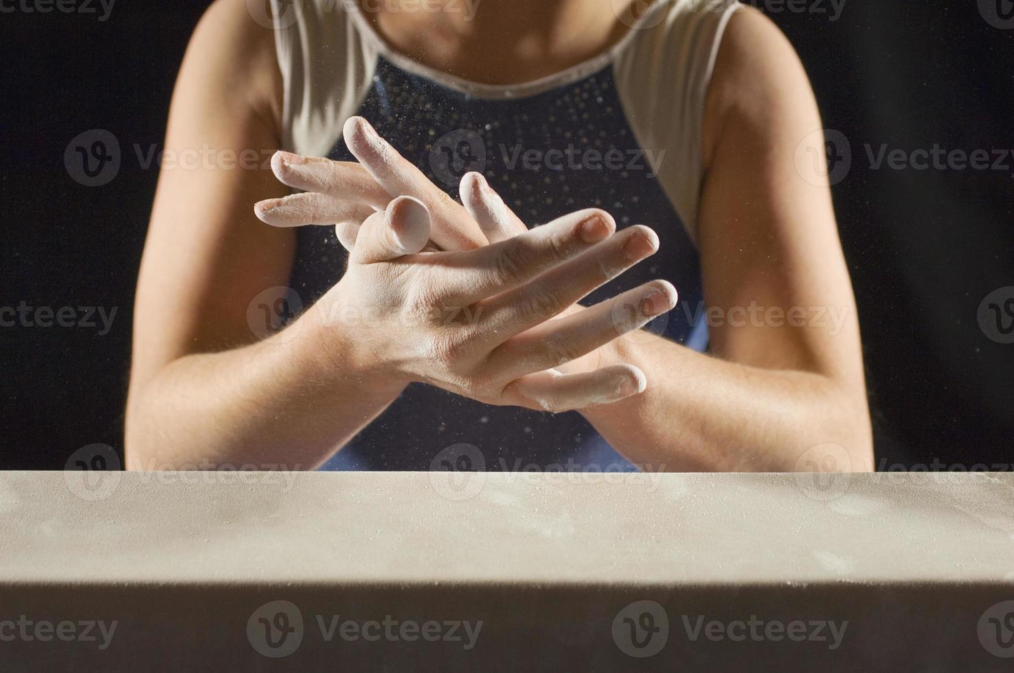 joven gimnasta foto
