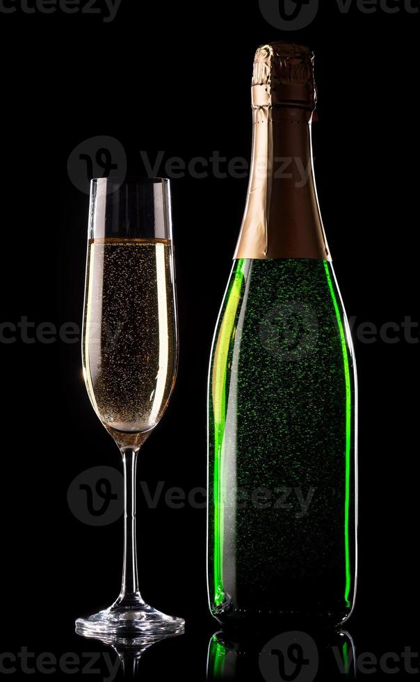 Celebratory champagne photo