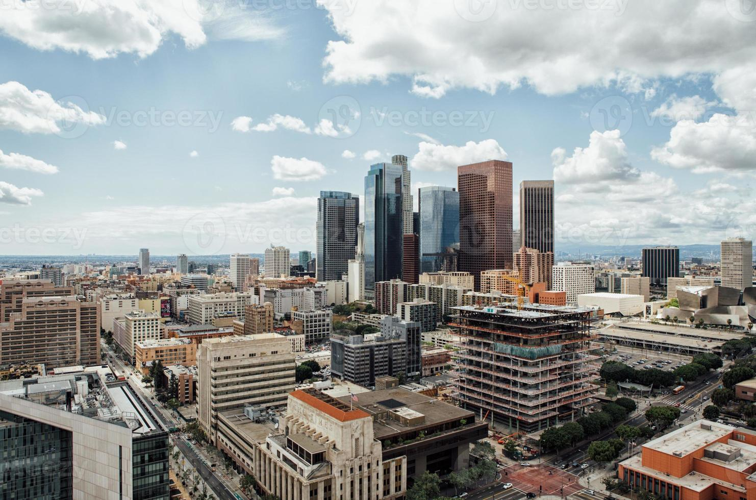 Cloudy Downtown L.A. photo