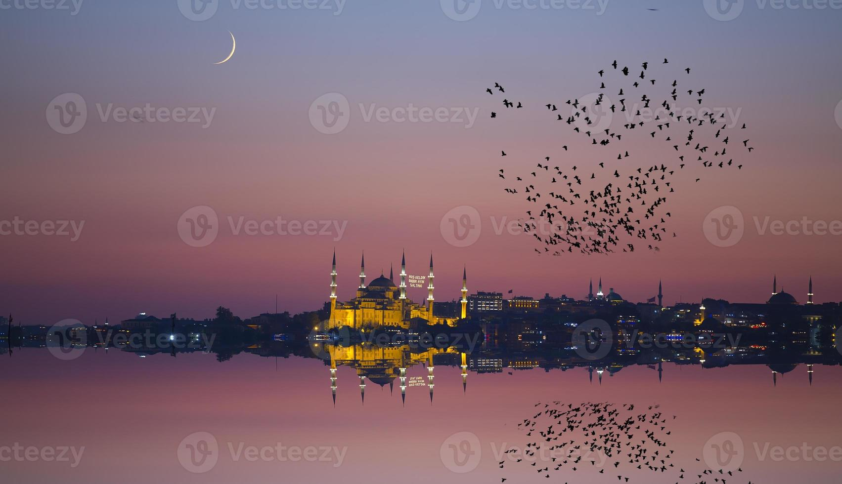 Night and Istanbul photo