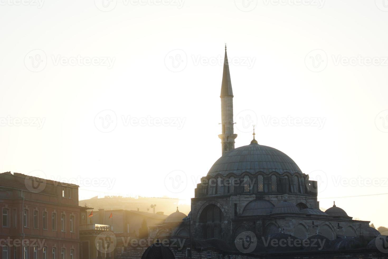 Backlight image of the Rüstem Pasha Mosque, Istanbul photo