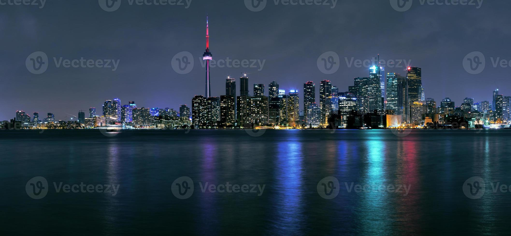 Toronto city at night photo