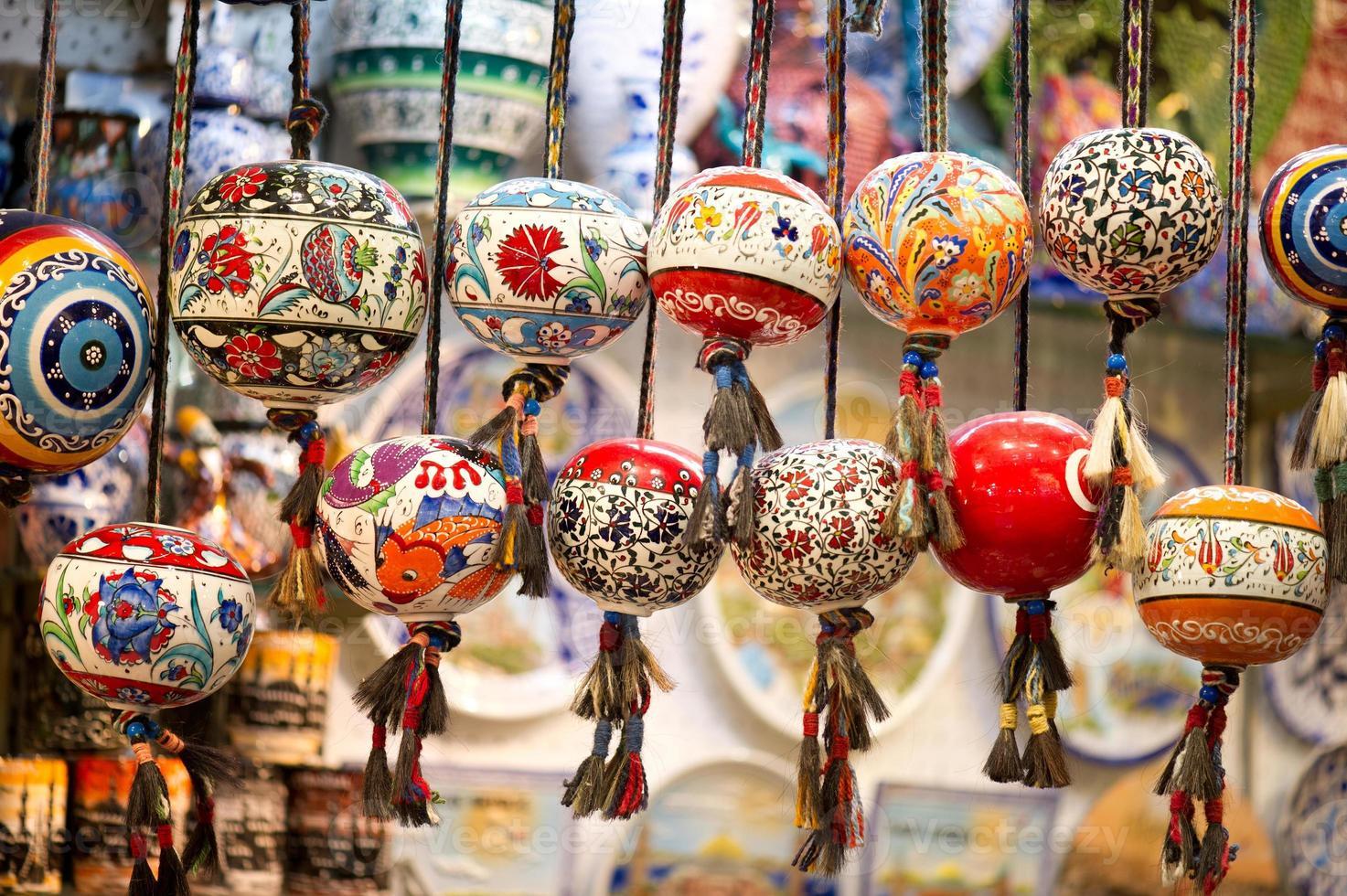 Cuentas orinetales en el gran bazar, Estambul, Turquía foto