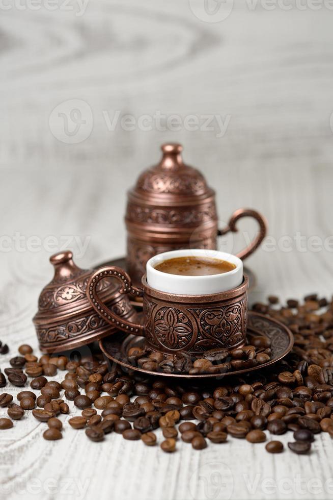 tradicional taza de café turco. foto