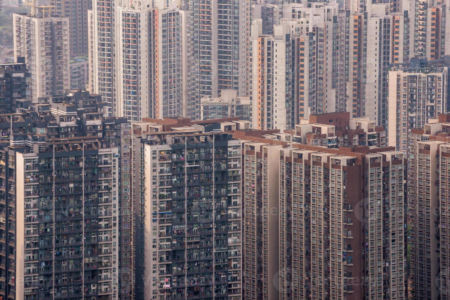 Chongqing, China - February11, 2013:  Chongqing, China downtown city skyline. photo