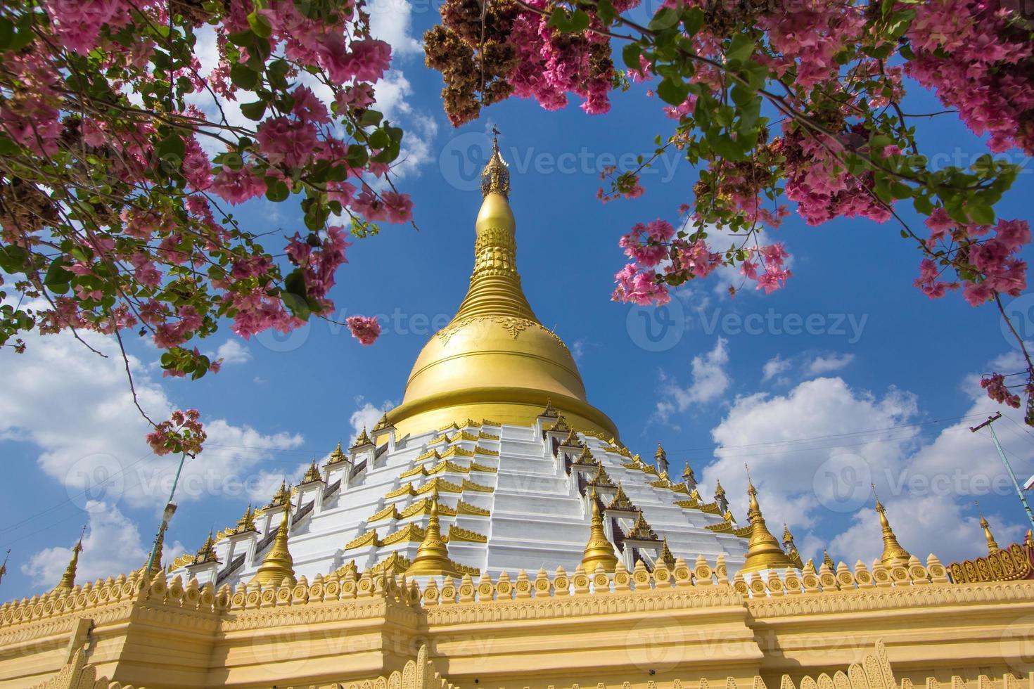 Golden pagoda Bago Myanmar. photo
