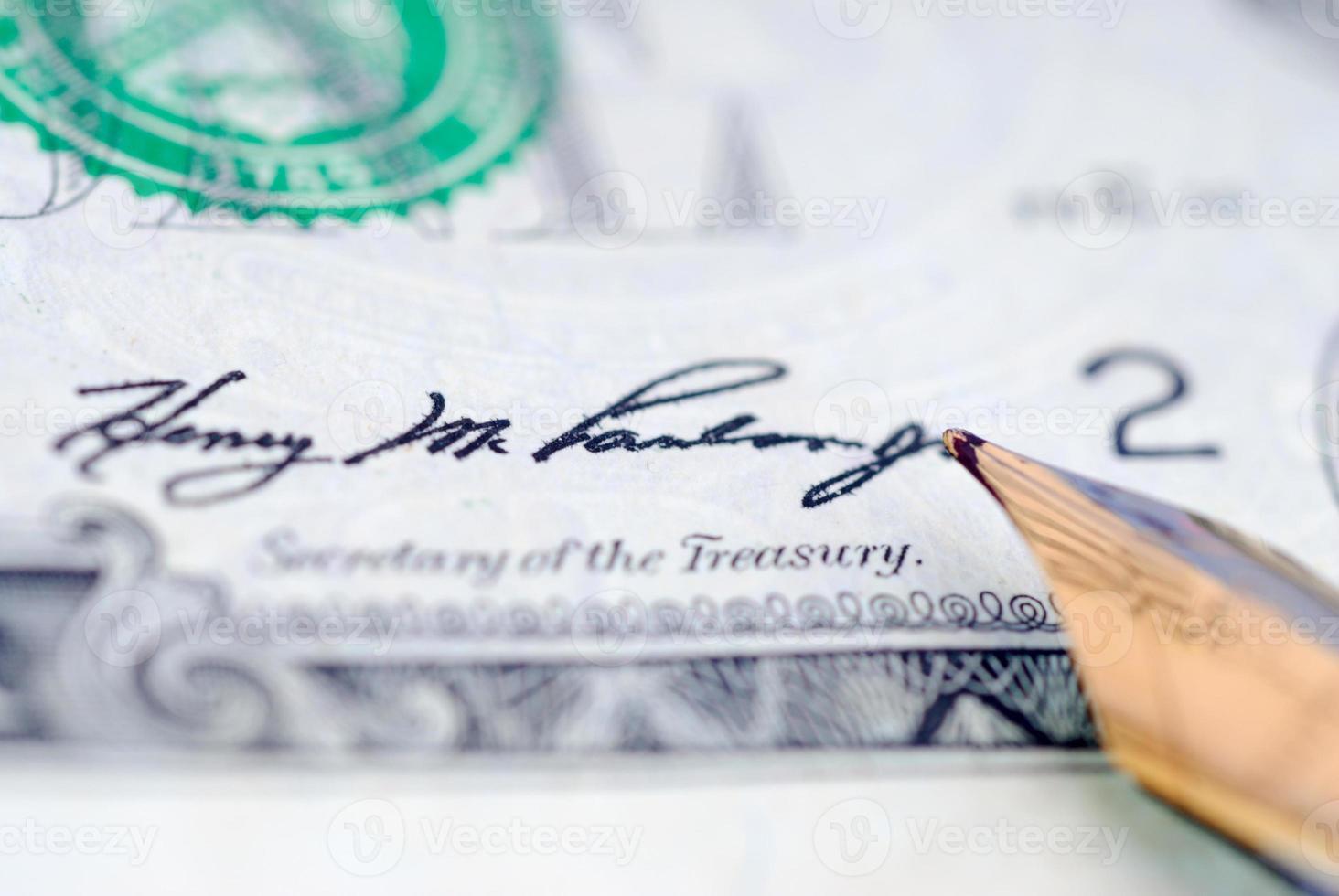 Signature money photo