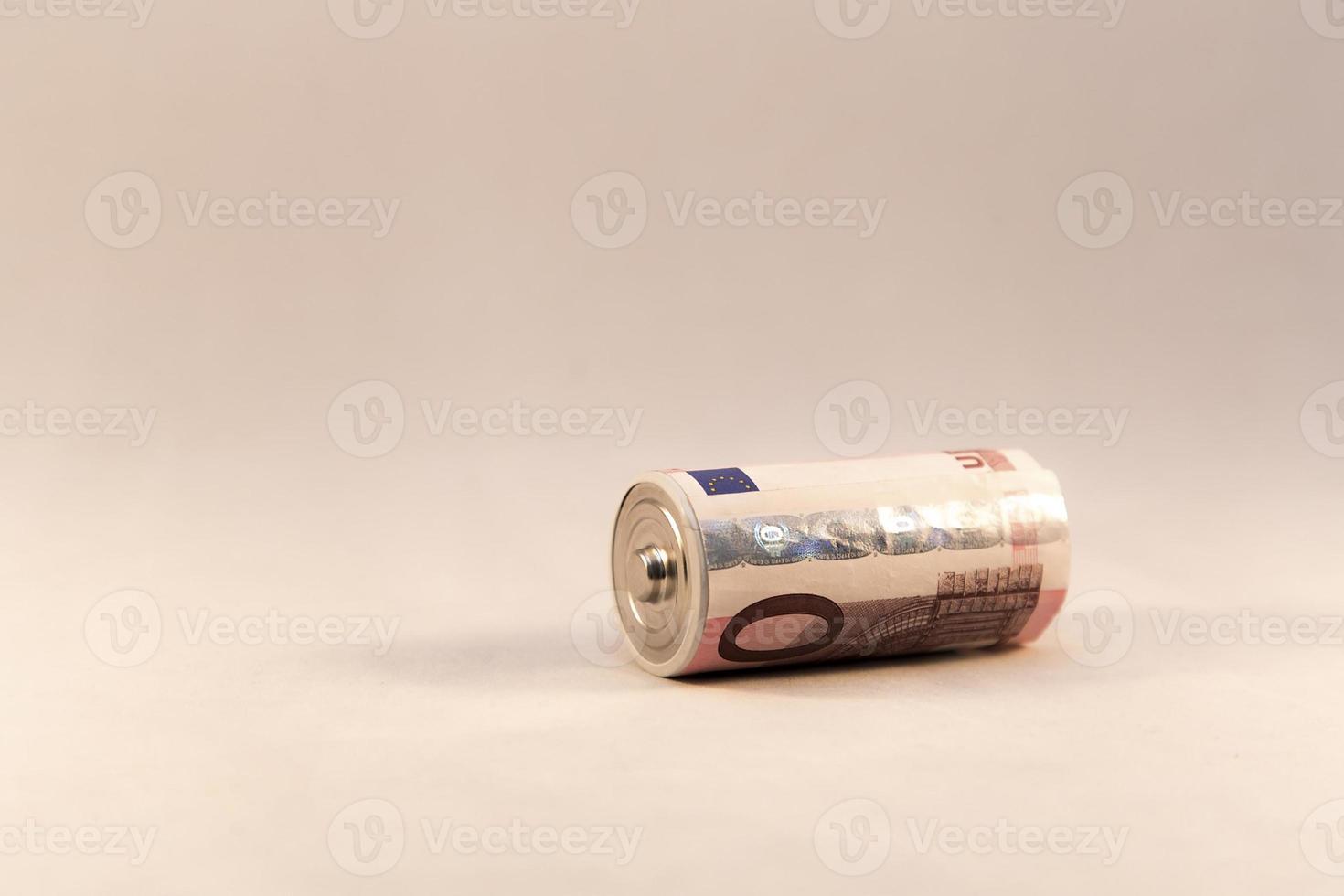 Battery money photo