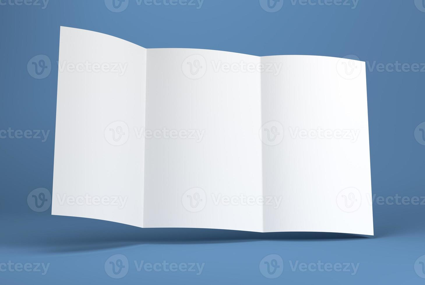 folleto de papel en blanco blanco foto