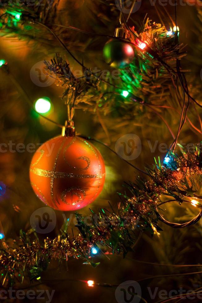 decoraciones para árboles de navidad foto